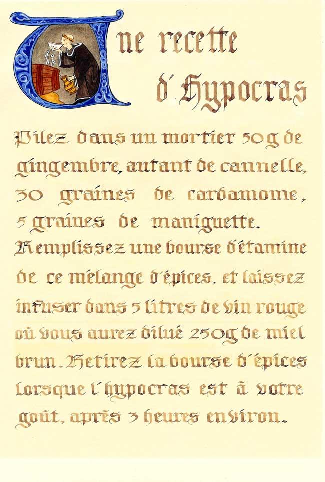 Recette d 39 hypocras - Philtre d amour recette ...